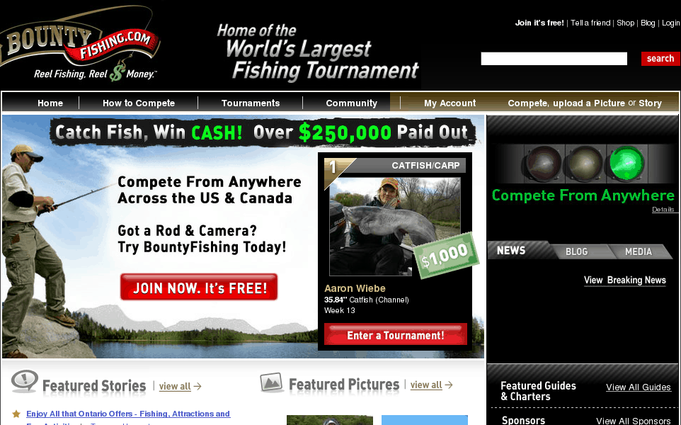 The largest online fishing tournament & community