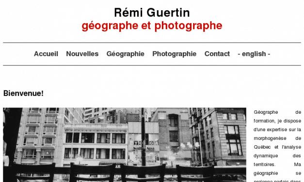 Remi Guertin geographe de Quebec