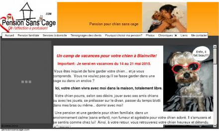 Pension chien sans cage