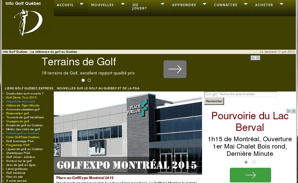Info Golf Québec – la référence du golf au Québec