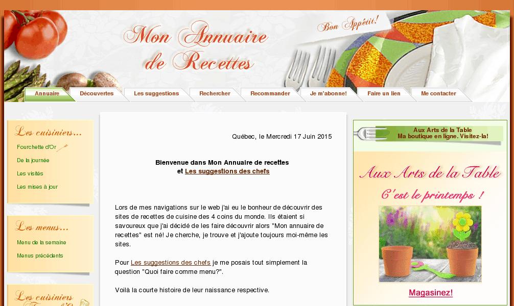 Mon annuaire de recettes