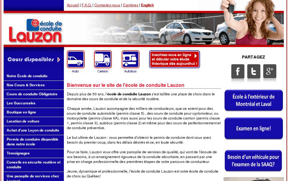 École de conduite Lauzon | Cours de conduite | Aut