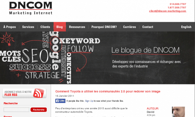 Le blogue de DNCOM Marketing