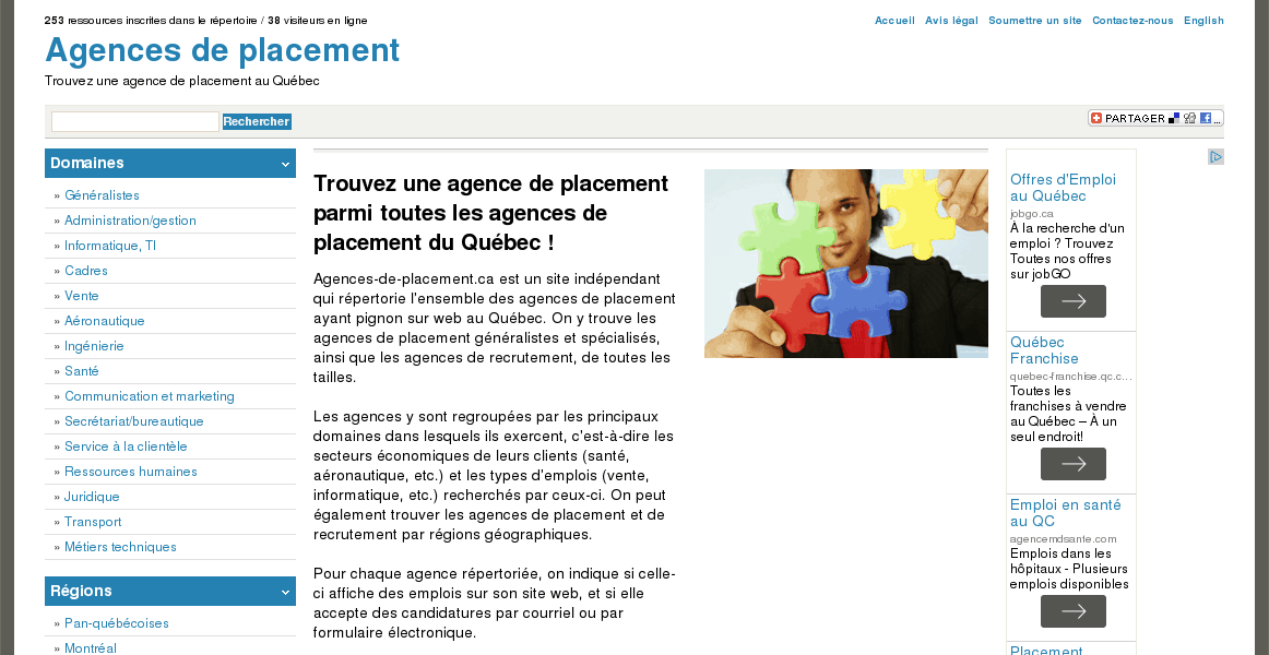 Agences de placement du Québec