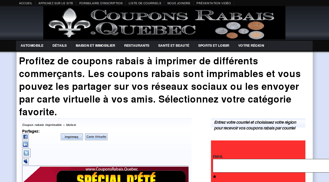 AccrocheCoupon – coupon rabais, coupon à imprimer,