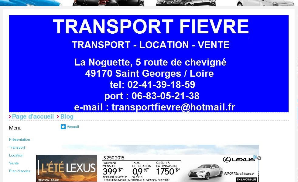Transport Fièvre – Transport, location et vente de véhicules