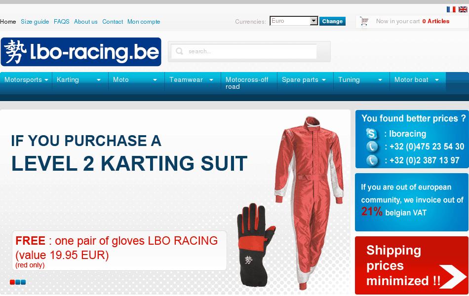 LBO Racing – equipment for racing, karting, moto, tuning