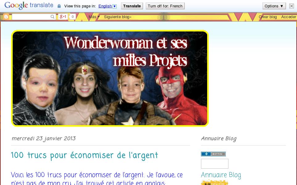 Wonderwoman et ses milles projets