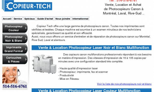 Copieurtech – vente et location de photocopieur et imprimante à montréal