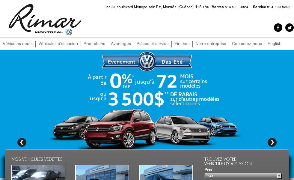 Rimar Volkswagen  Concessionnaire auto à Montréal