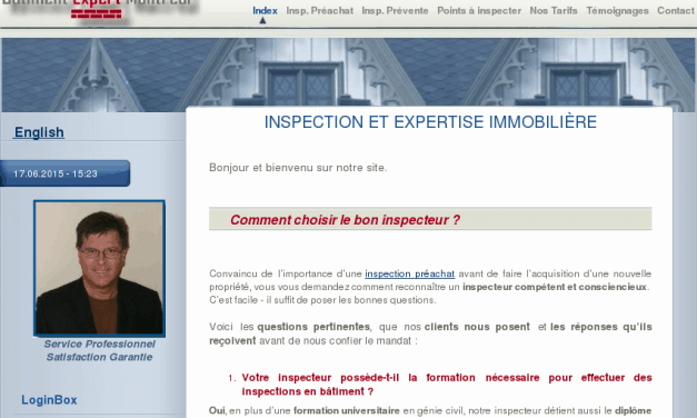 Bâtiment Expert Montréal