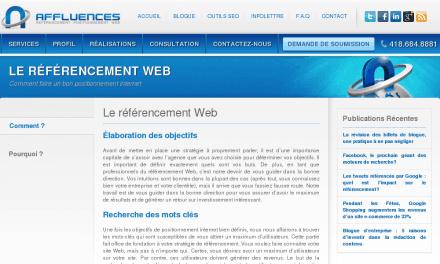 RÉFÉRENCEMENT WEB – Positionnement internet, Faire connaitre site internet