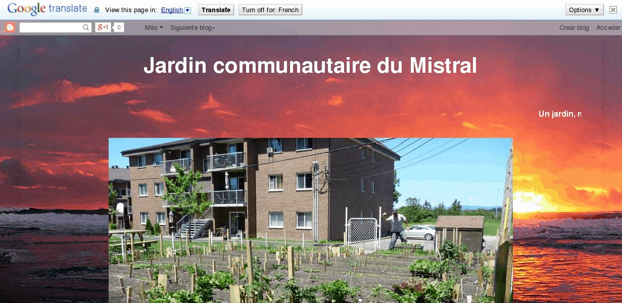 Jardin communautaire du Mistral